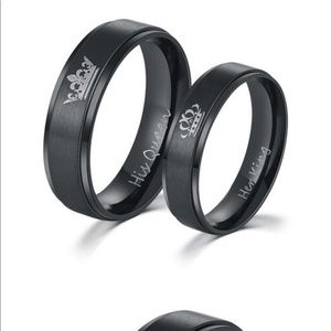 Other - Black stainless wedding band set